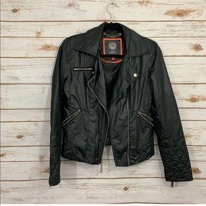Vince Camuto Black Asymmetric Zip Moto Jacket
